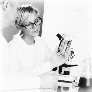 Chemistry Scientist conducting experiments in laboratory